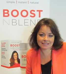 Bambi Staveley at the launch of Boost N Blend