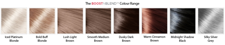 BOOSTn BLEND colour swatches